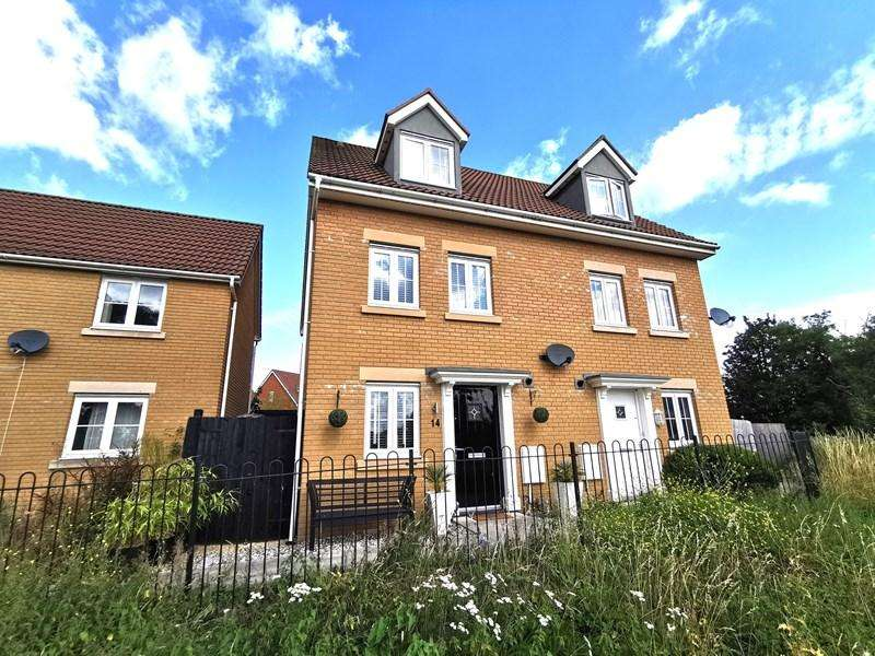 4 Bedrooms Semi Detached House for sale in Company Farm Drive, Llanfoist, Abergavenny