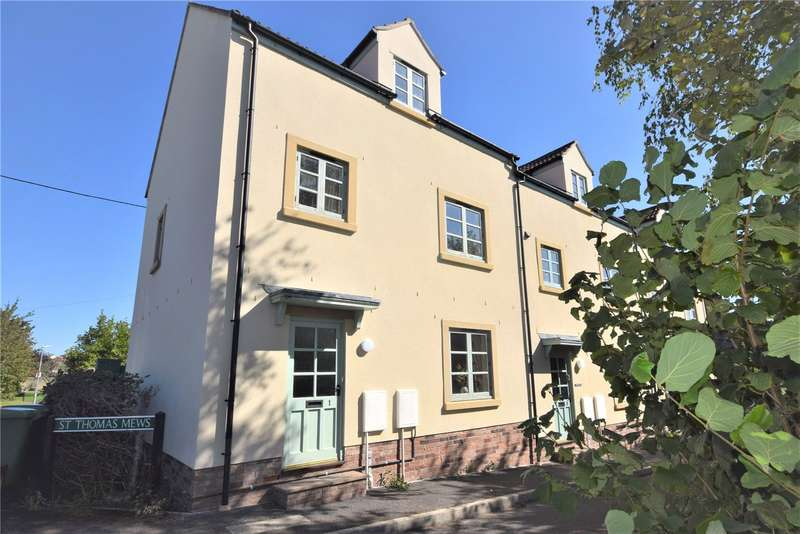 3 Bedrooms End Of Terrace House for sale in St. Thomas Mews, North Road, Wells, Somerset, BA5