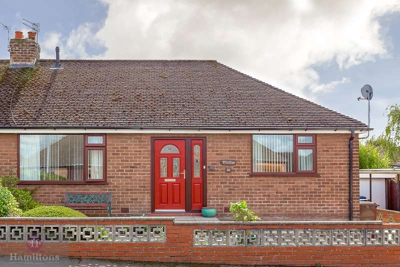 3 Bedrooms Semi Detached Bungalow for sale in Knowsley Drive, Leigh, Greater Manchester. WN7 3LY