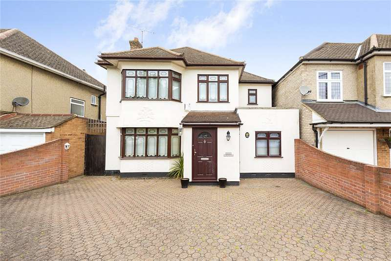 4 Bedrooms Detached House for sale in Ockendon Road, Upminster, RM14