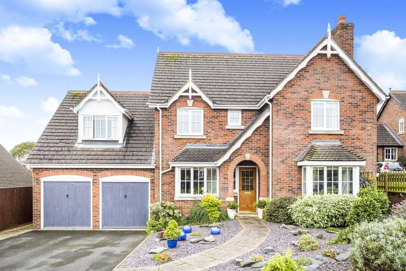 4 Bedrooms Detached House for sale in Onnen Gardens, Trefonen, Oswestry, Shropshire, SY10