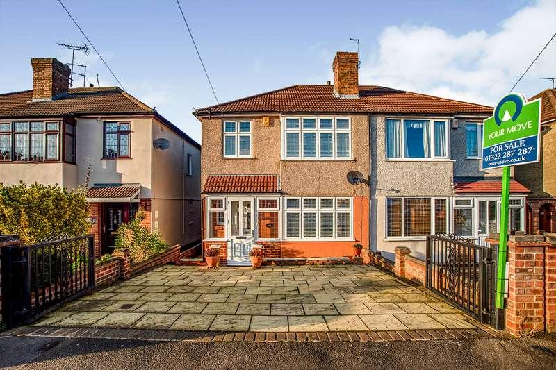 3 Bedrooms Semi Detached House for sale in Wilmot Road, Dartford, Kent, DA1