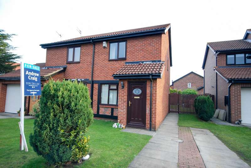 2 Bedrooms Semi Detached House for sale in Portchester Grove, Boldon Colliery