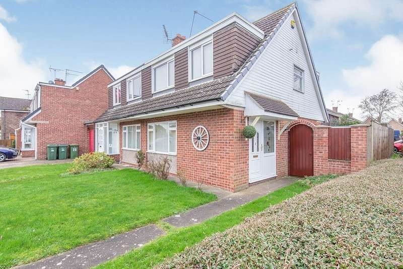 3 Bedrooms Semi Detached House for sale in Tophall Drive, Countesthorpe, Leicester, LE8