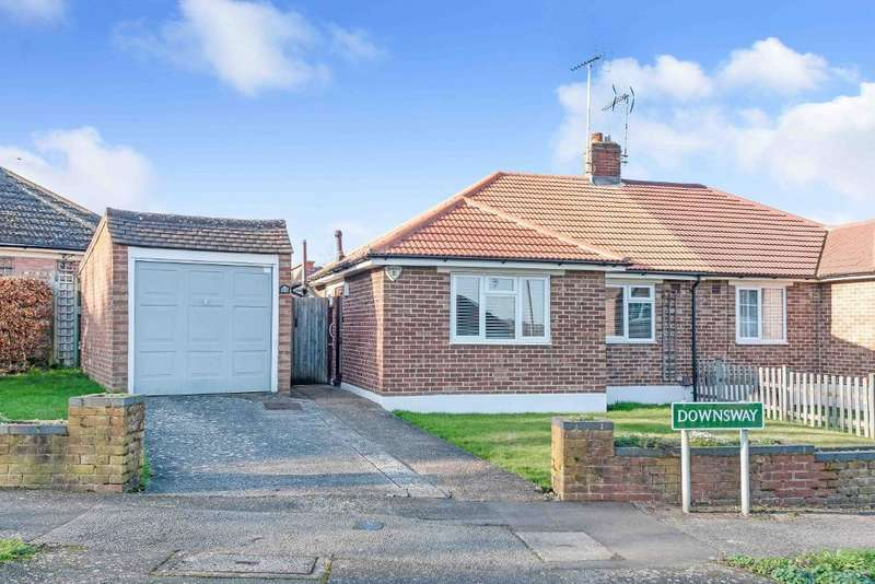 2 Bedrooms Semi Detached Bungalow for sale in Downs Way, Orpington, Kent, BR6 9NU