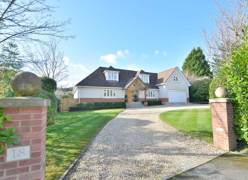 4 Bedrooms Detached House for sale in Lone Pine Drive, Ferndown, Dorset, BH22 8LS