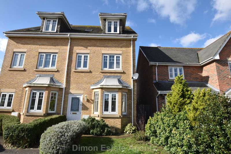 3 Bedrooms Semi Detached House for sale in Estancia Close, Lee On The Solent
