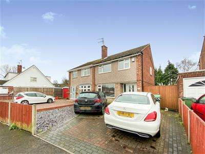 3 Bedrooms Semi Detached House for sale in Bignal Drive, Leicester Forest East, Leicester