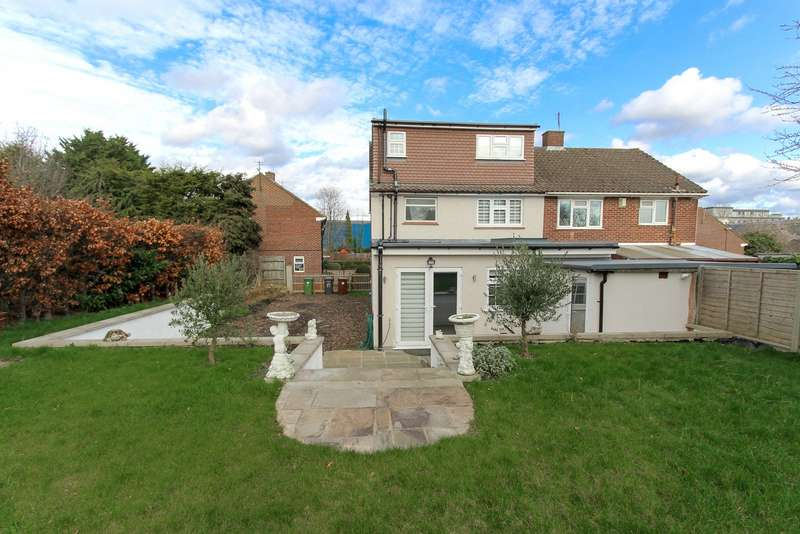 3 Bedrooms Semi Detached House for sale in Robin Hood Drive, Bushey, Hertfordshire, WD23
