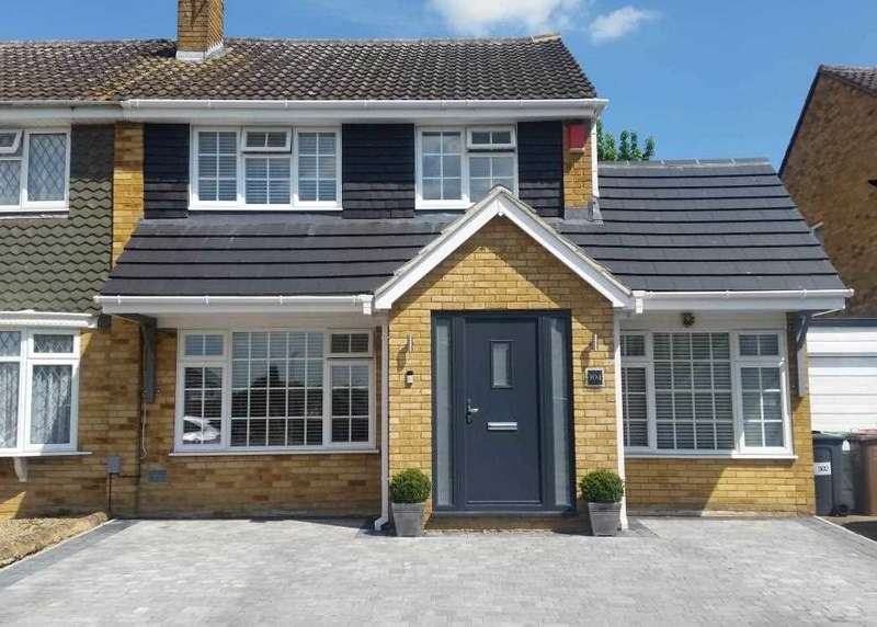 3 Bedrooms Semi Detached House for sale in Turnpike Drive, Luton