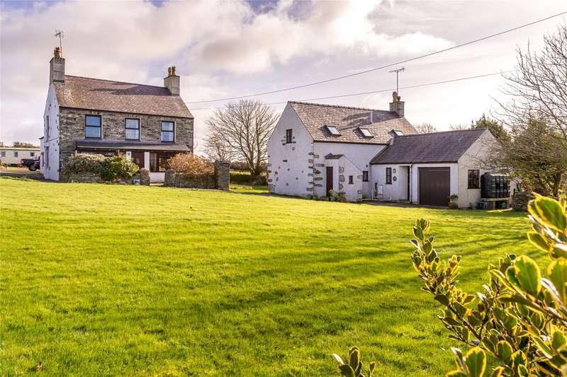 4 Bedrooms Detached House for sale in Llanfwrog, Llanfaethlu, Holyhead, Anglesey, LL65