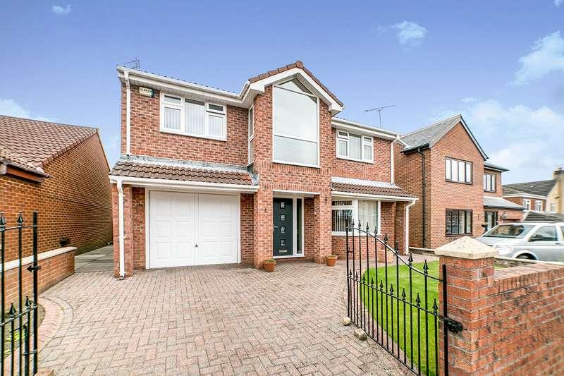 4 Bedrooms Detached House for sale in Simonside Walk, Lobley Hill, NE11