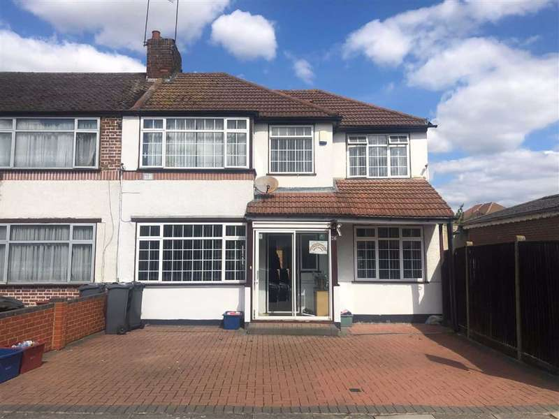 4 Bedrooms End Of Terrace House for sale in Clunbury Avenue, Southall, Middlesex