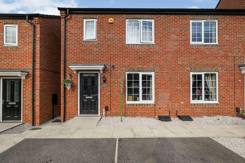 3 Bedrooms Semi Detached House for sale in Weavers Way, South Normanton, Alfreton, Derbyshire, DE55