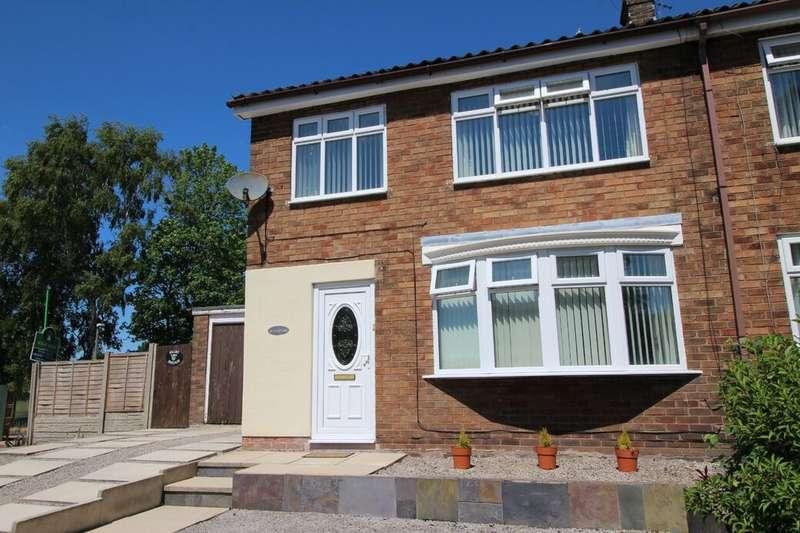 Semi Detached House for sale in Back Lane, Holland Moor, Skelmersdale, Lancashire, WN8