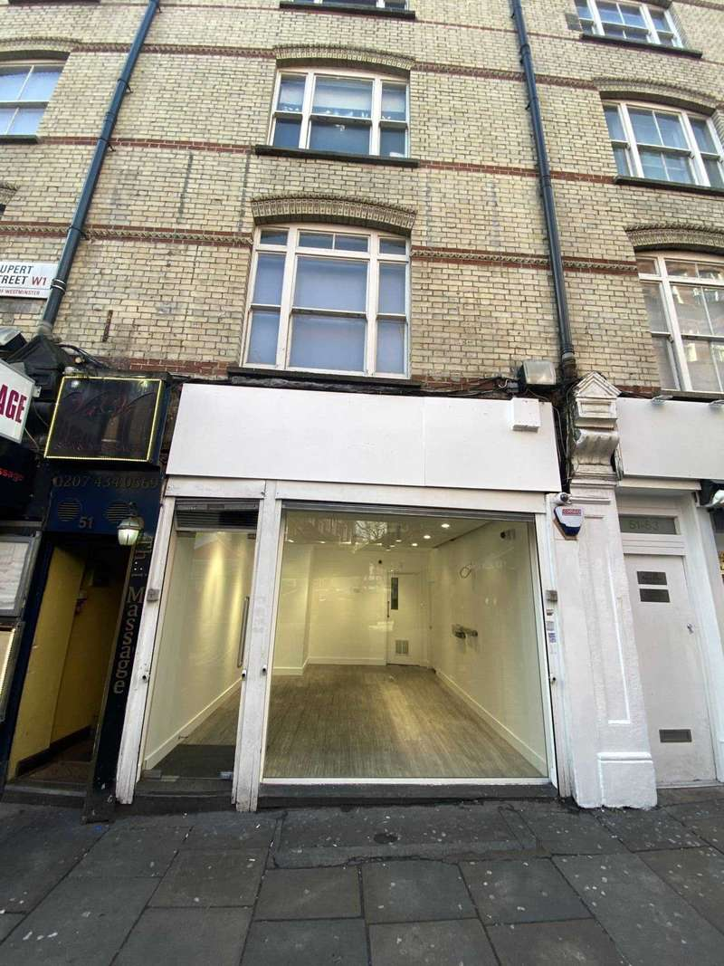 Retail Property (high Street) Commercial for rent in Rupert Street,Soho, W1