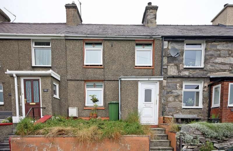 2 Bedrooms Terraced House for sale in Hyfrydle Road, Talysarn, Caernarfon, Gwynedd, LL54