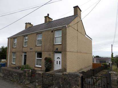 2 Bedrooms Semi Detached House for sale in Tan Y Bryn, Lon Llainffynnon, Groeslon, Caernarfon, LL54