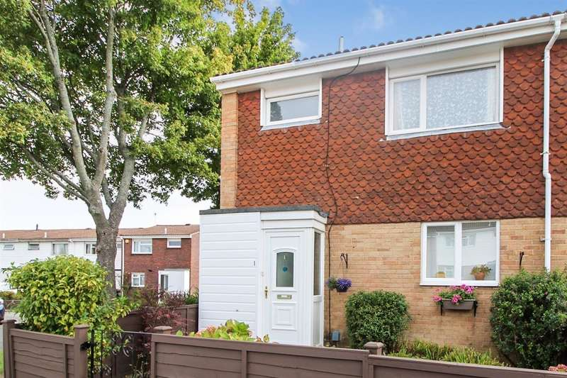 3 Bedrooms End Of Terrace House for sale in Pyecombe Court, Cuckfield Close, Crawley