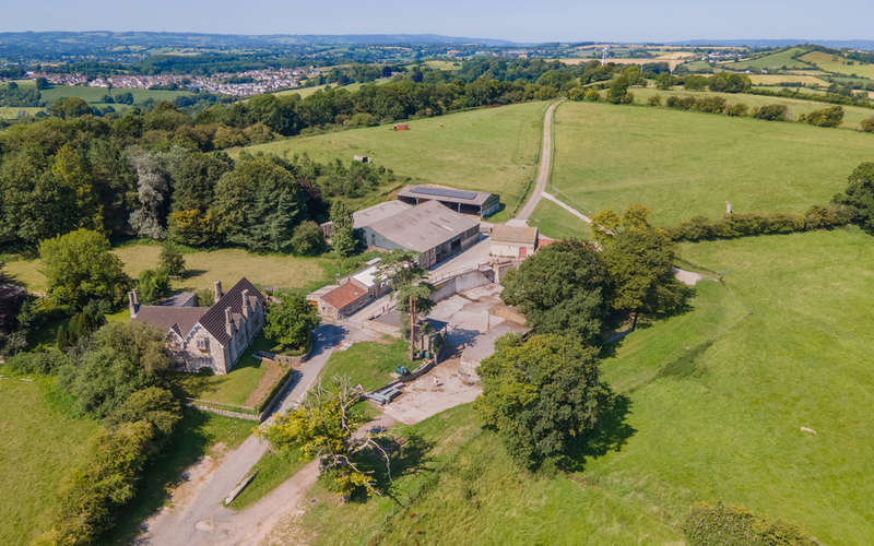 5 Bedrooms Land Commercial for sale in Timsbury Nr Bath Delightful hilltop farm 173 acres Pretty house Traditional barns