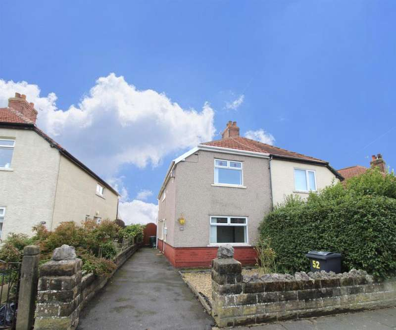 3 Bedrooms Semi Detached House for sale in Lordsome Road, Heysham, Morecambe