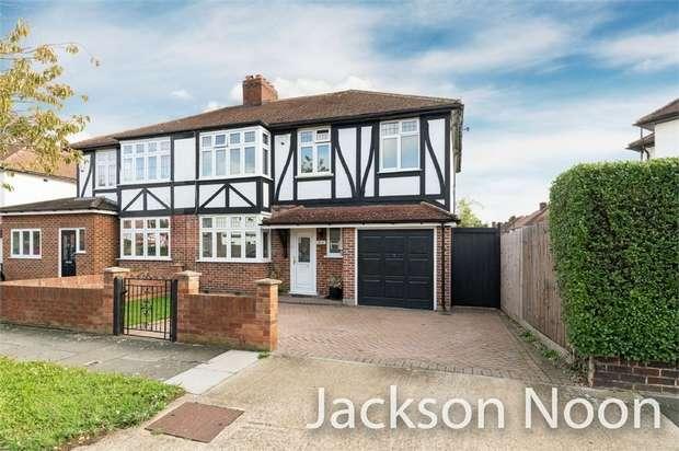 4 Bedrooms Semi Detached House for sale in Brockenhurst Avenue, Worcester Park