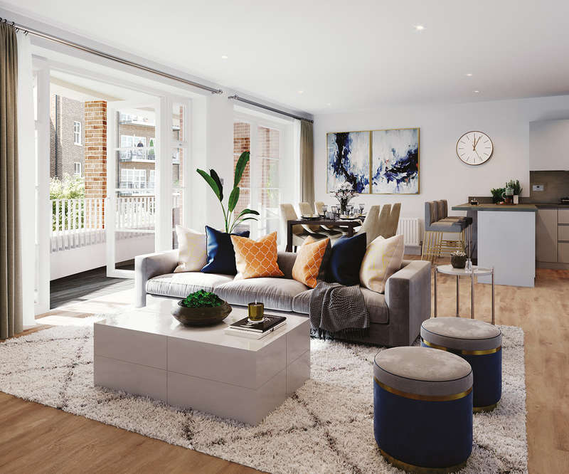 3 Bedrooms Flat for sale in Courtyard Gardens, Oxted