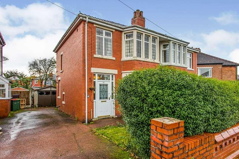 3 Bedrooms Semi Detached House for sale in Tudor Avenue, Preston, Lancashire, PR1