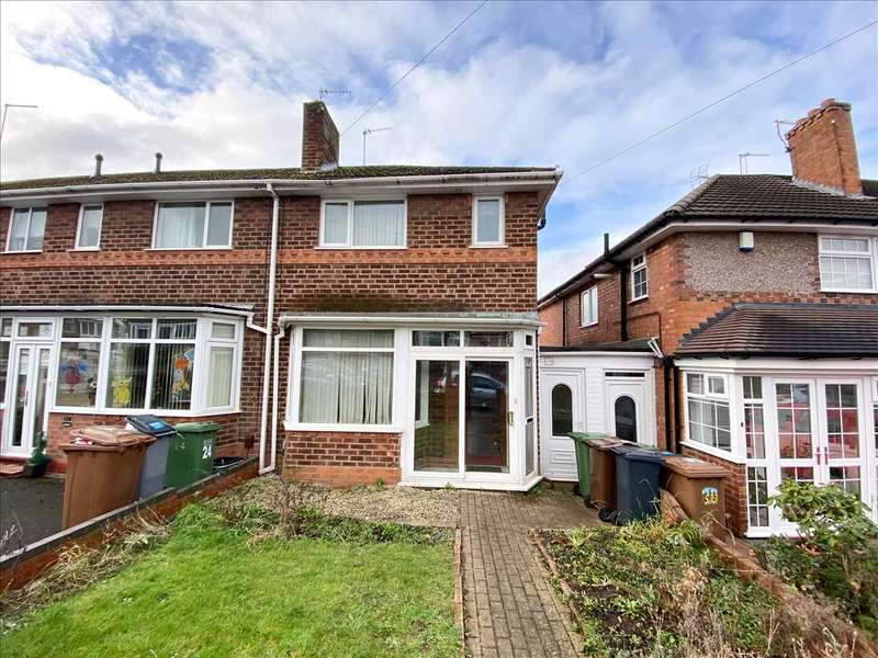 3 Bedrooms End Of Terrace House for rent in Croft Down Road, Solihull, Solihull