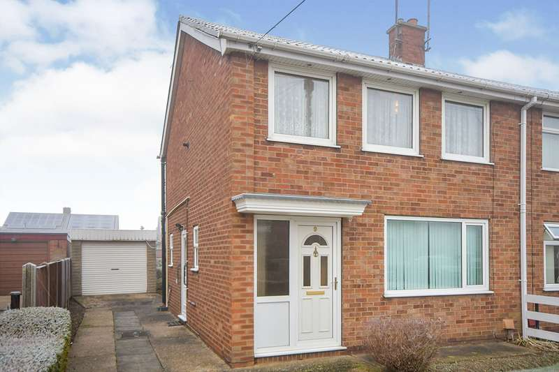 3 Bedrooms Semi Detached House for sale in Birch Close, North Hykeham, Lincoln, Lincolnshire, LN6