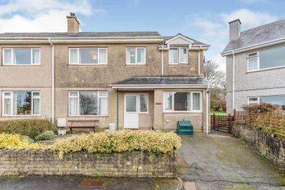 4 Bedrooms Semi Detached House for sale in Cae Llwyd Estate, Llanystumdwy, Criccieth, Gwynedd, LL52