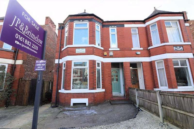 5 Bedrooms Semi Detached House for sale in Clarendon Road West, Chorlton, Manchester, M21
