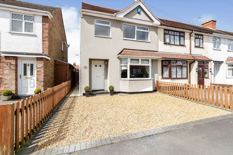 3 Bedrooms Semi Detached House for sale in Burleigh Road, Hinckley, Leicestershire, LE10