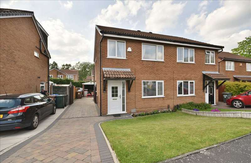 3 Bedrooms Semi Detached House for sale in Wymundsley, Astley Village, Chorley