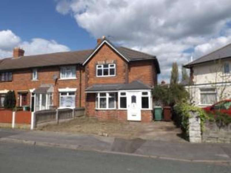 3 Bedrooms End Of Terrace House for sale in Bryan Road, Walsall, West Midlands