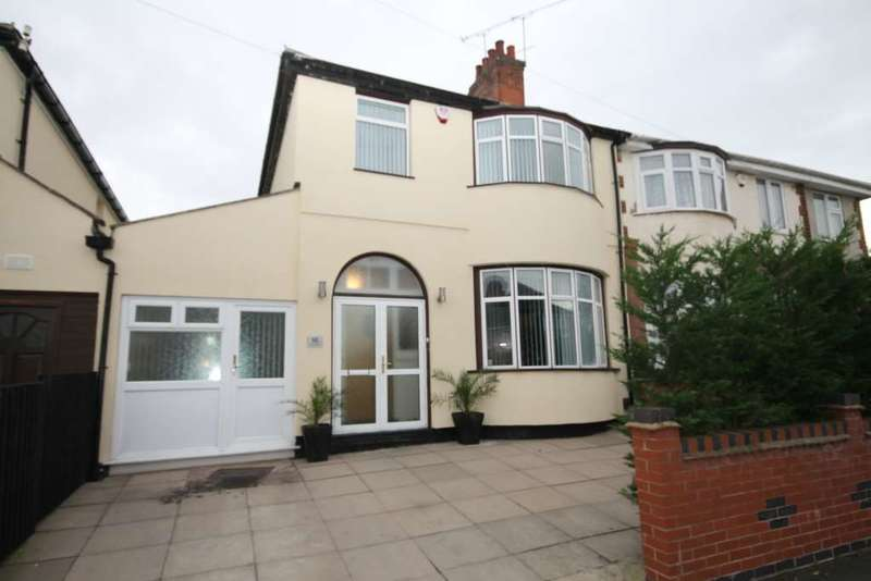 4 Bedrooms Semi Detached House for sale in Mayflower Road, Leicester