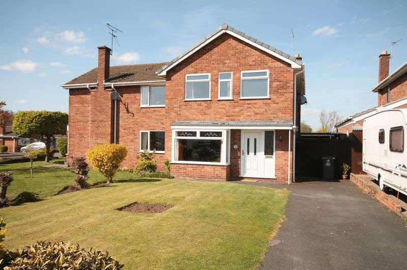 3 Bedrooms Semi Detached House for sale in Sherwood Crescent, Market Drayton