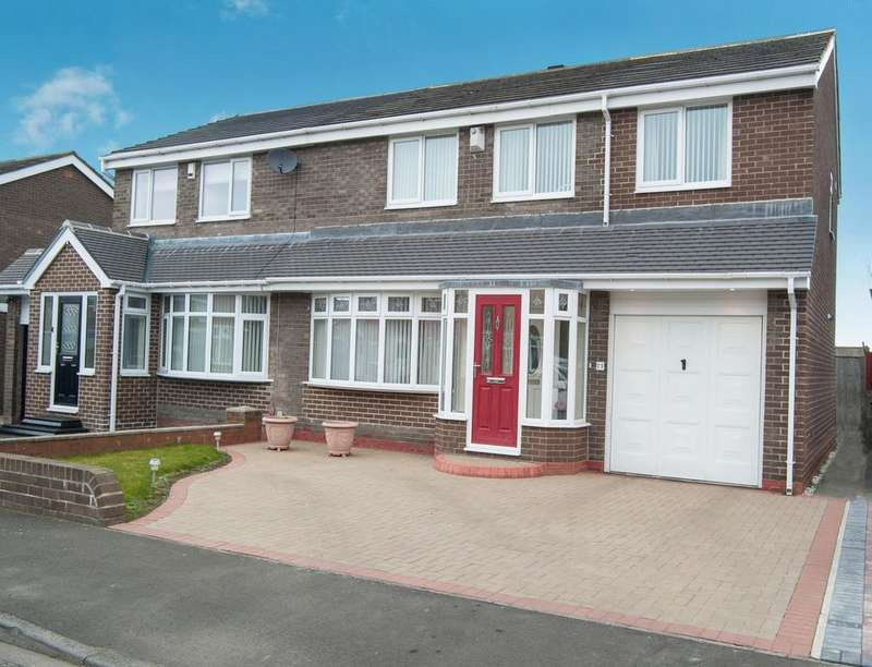 4 Bedrooms Semi Detached House for sale in Sunholme Drive, Wallsend, NE28
