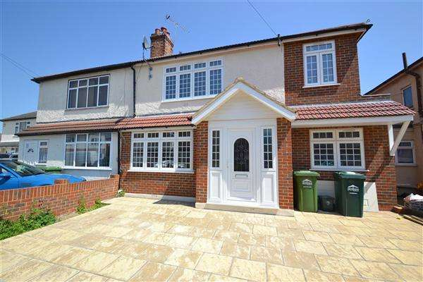 4 Bedrooms Semi Detached House for sale in Willowbrook Road, Stanwell