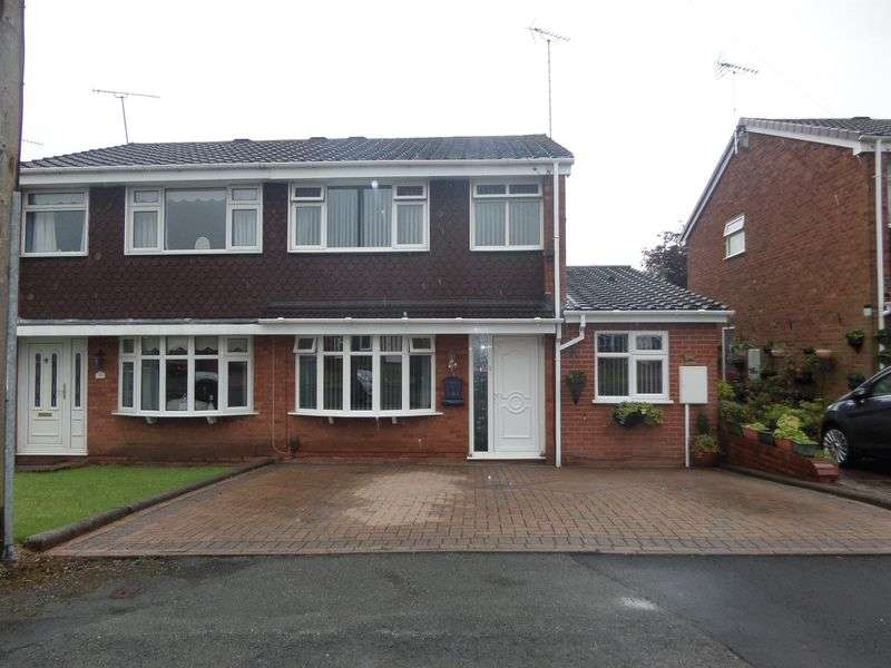 4 Bedrooms Semi Detached House for sale in Chieveley Close, Etchinghill, Rugeley