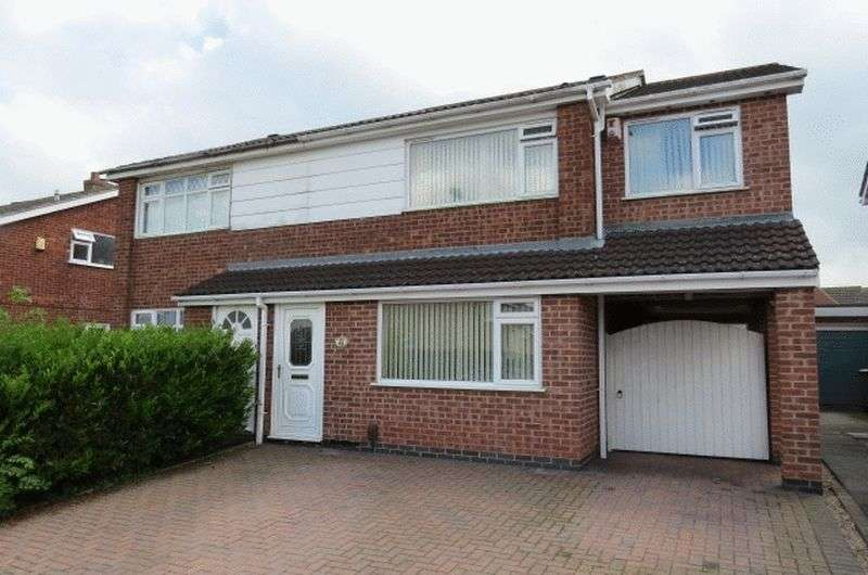 4 Bedrooms Semi Detached House for sale in Redbrook Crescent, Melton Mowbray