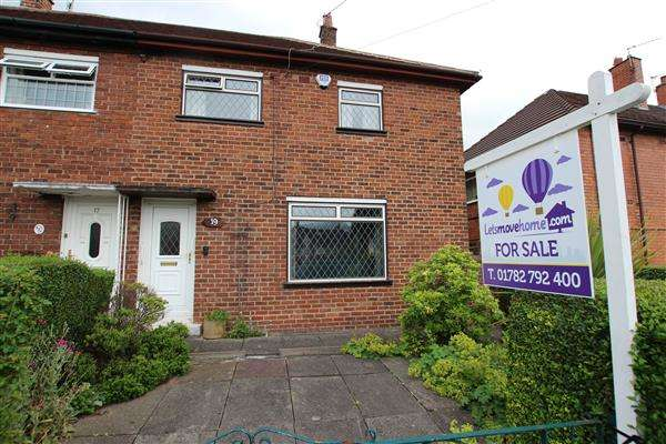 3 Bedrooms Semi Detached House for sale in Wellfield Road, Bentilee, Stoke-on-Trent