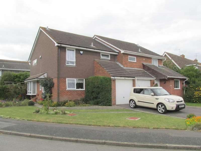 3 Bedrooms Semi Detached House for sale in Lamorna Gardens, Westergate, Nr Chichester, West Sussex, PO20 3RL