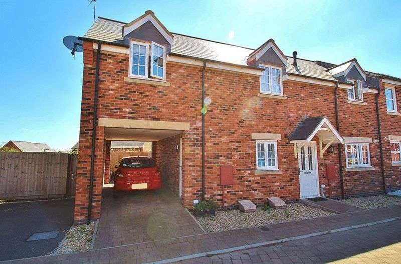 2 Bedrooms Semi Detached House for sale in Becks Close, Birstall, Leicestershire