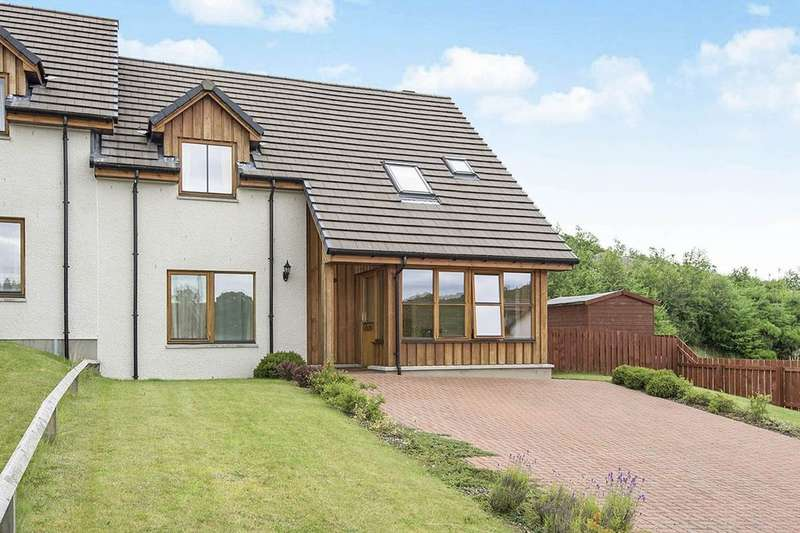 3 Bedrooms Semi Detached House for sale in Ulladale Crescent, Strathpeffer, IV14