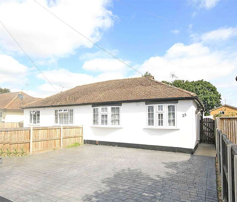 3 Bedrooms Semi Detached Bungalow for sale in Pinewood Grove, New Haw, Addlestone, Surrey, KT15