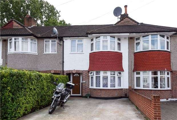 3 Bedrooms Terraced House for sale in Riverside Drive, Mitcham, Surrey, CR4