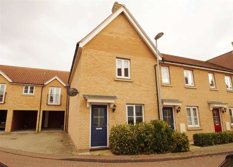2 Bedrooms End Of Terrace House for sale in Kirk Way, Mile End, Colchester