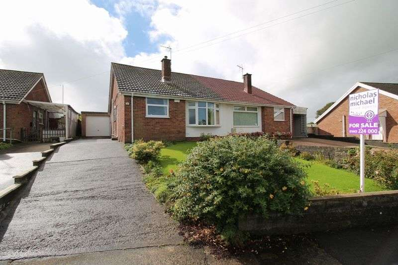 3 Bedrooms Semi Detached Bungalow for sale in Danybryn, BRYNSADLER CF72 9DH