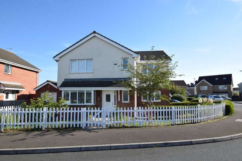 4 Bedrooms Detached House for sale in 4 School House Close, North Cornelly, Bridgend, Bridgend County Borough, CF33 4HJ.